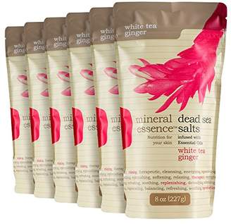 Salt Works Mineral Essence Scented Dead Sea Salt - 8 oz Pouches (Pack of 6)