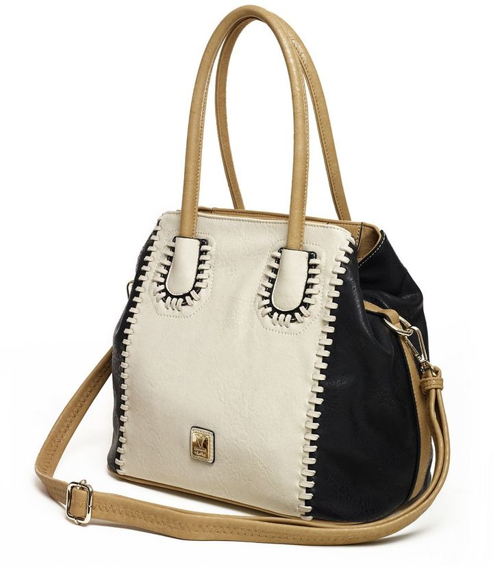 Kooba V-couture by bergamo stitched convertible tote
