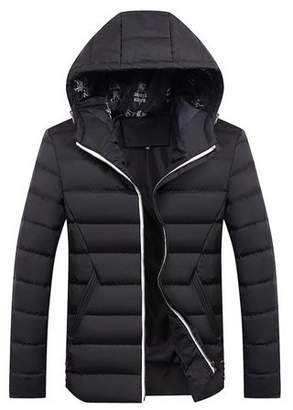 FacetoSun Winter Men Thick Jacket Comfortable Men Cotton Outwear Hooded Jacket Coat