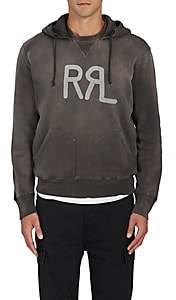 RRL Men's Cotton-Blend Hoodie-Black