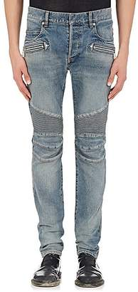 Balmain Men's Skinny Biker Jeans - Lt. Blue
