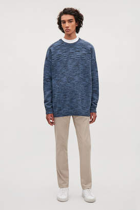 Cos TONAL COTTON-KNIT JUMPER