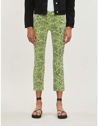 J Brand Selena animal-print boot-cut mid-rise jeans