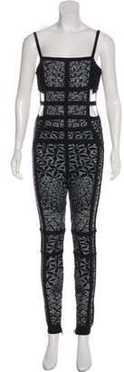 Herve Leger Yuna Printed Jumpsuit