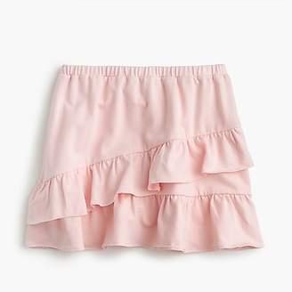 J.Crew Girls' pull-on skirt with ruffles