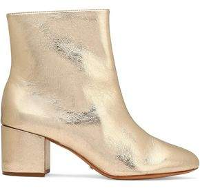 Schutz Lupe Metallic Cracked-Leather Ankle Boots