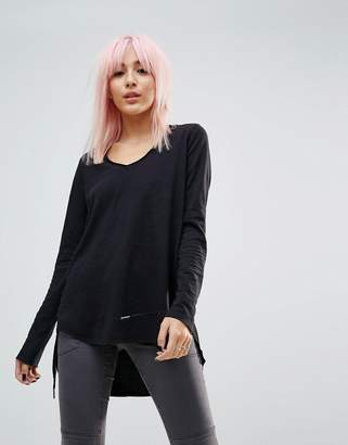 Blank NYC Long Sleeved Scoop Neck T-Shirt