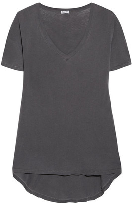 Splendid - Vintage Whisper Cotton-jersey T-shirt - Charcoal $115 thestylecure.com