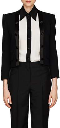 Givenchy Women's Satin-Trimmed Wool Twill Crop Blazer