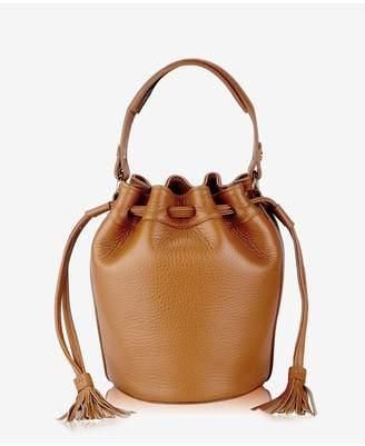 GiGi New York Genevieve Bucket Bag In Denim Napa Luxe