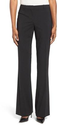 Women's Boss Tulea3 Straight Leg Stretch Wool Trousers $255 thestylecure.com