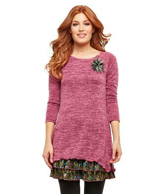 Joe Browns Pink Magic Feather Tunic