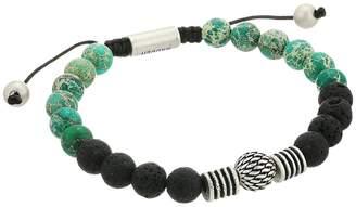 Steve Madden Textured Ball and Chrysocolla Bead Bracelet Bracelet
