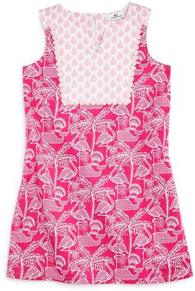Vineyard Vines Girls' Flamingo-Print Shift Dress
