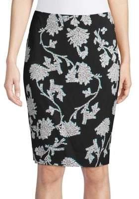 Diane von Furstenberg Printed Pencil Skirt