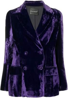 Cavallini Erika velvet double breasted blazer