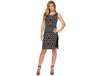 Tribal Pack and Go Travel Jersey Printed Sleeveless Dress with Inside Contrast Slip Women's Dress
