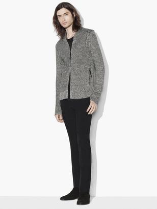 Shawl Collar Zipped Cardigan $428 thestylecure.com