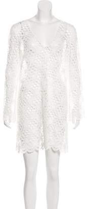 Milly Long Sleeve Crochet Dress