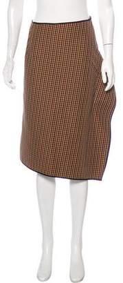 Hache Plaid Knee-Length Skirt w/ Tags