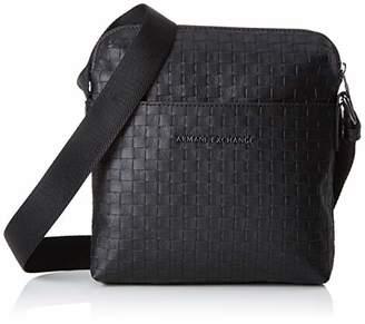 Armani Exchange Old Logo Crossbody Bag Men's Messenger Bag,22x3x20 centimeters (B x H x T)