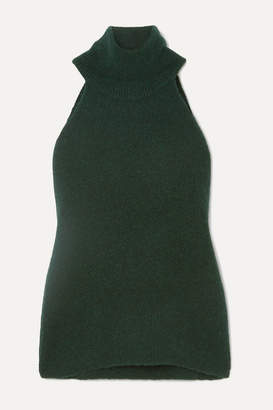 Jacquemus Baho Ribbed Wool-blend Turtleneck Top - Forest green
