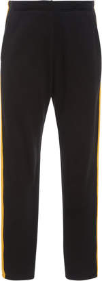 The Elder Statesman Striped Cotton-Fleece Track Pants