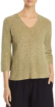 Eileen Fisher V-Neck Marled Sweater