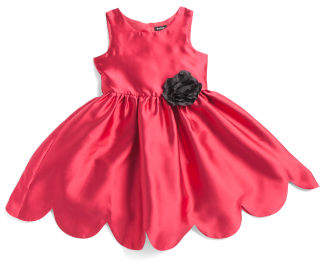 Little Girls Rosette Special Occasion Dress