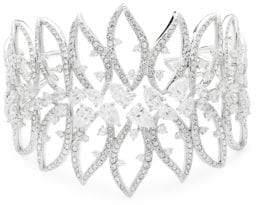 Adriana Orsini Calla Crystal Large Open Cuff Bracelet