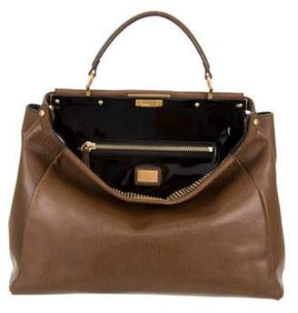 Fendi Large Peekaboo Tote Brown Large Peekaboo Tote