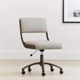 Pottery Barn Teen Boucle Twill Gravel Boomerang Desk Chair