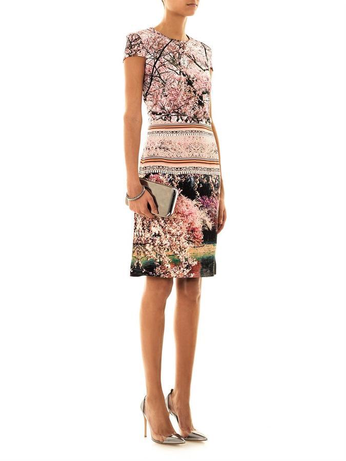 Mary Katrantzou Silver lake-print dress