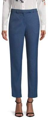Etro Diamond-Pattern Ankle Pants