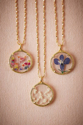 Anthropologie Pressed Flower Necklace $140 thestylecure.com