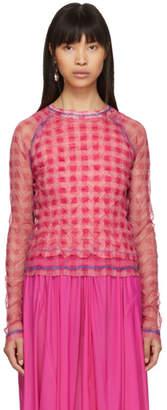Ovelia Transtoto Pink Check Sun Damage T-Shirt