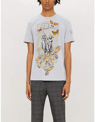 Etro Graphic-print cotton-jersey T-shirt