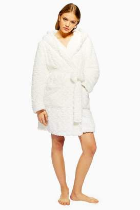 Topshop Womens Faux Fur Fluffy Dressing Gown