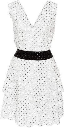Marysia Swim Cross-Back Polka-Dot Cotton Mini Dress
