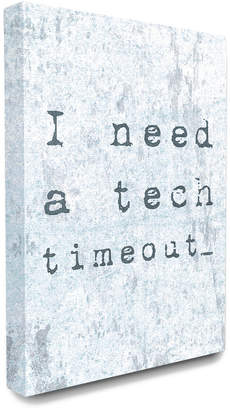 Timeout Stupell Need A Tech Distressed Blue Typography