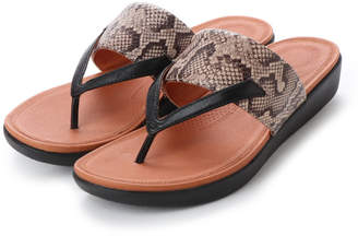 FitFlop (フィットフロップ) - フィットフロップ FitFlop DELTA TOE-THONG SANDALS - LEATHER / SNAKE-PRINT