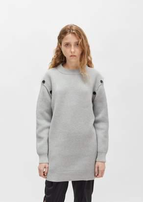 Proenza Schouler Wool Cashmere Tunic Sweater Grey Melange