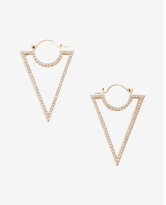 Express Pave Triangle Earrings $29.90 thestylecure.com