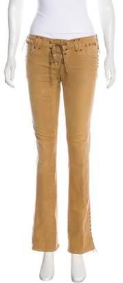 Ralph Lauren Low-Rise Straight-Leg Jeans