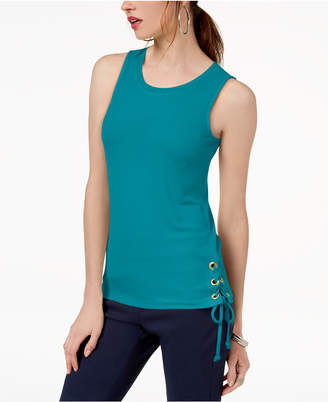 INC International Concepts I.n.c. Lace-Up Tank Top, Created for Macy's