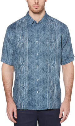 Cubavera Big & Tall Distressed Embroidered Eyelet Shirt