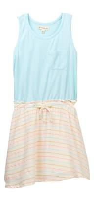 Tucker + Tate Knit To Woven Tank Dress (Toddler & Little Girls)