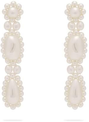 Simone Rocha Faux-pearl drop earrings