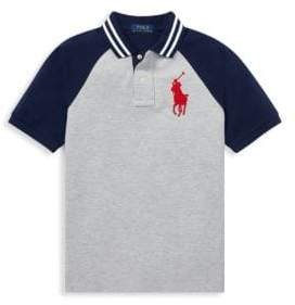 Ralph Lauren Little Boy's & Boy's Raglan Polo