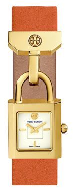 Tory BurchTory Burch The Surrey Goldtone and Leather Strap Watch